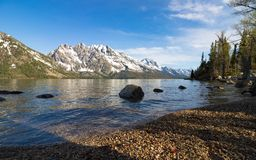 Parc national grand Etats-Unis de Teton de vue de moountain de neige photos libres de droits