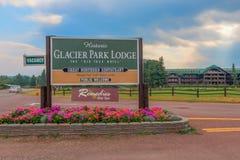 Parc national historique de glacier de signe de loge de parc de glacier Photo libre de droits