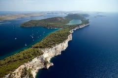 Parc national Kornati et parc naturel de Telascica, Croatie Images stock