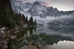 Parc national Marine Eye de Tatra Image stock