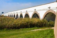 parc national Neuf-troué Hongrie de Hortobagy de pont image stock