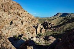 Parc national Nevada de canyon rouge de roche Images libres de droits
