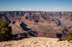 Parc national Rim Magnificent Landscape du nord, Arizona, Etats-Unis de Grand Canyon image libre de droits