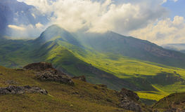Parc national Shahdag (Azerbaïdjan) de montagnes Images stock