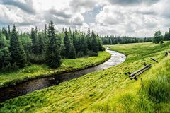 Parc national Sumava - ardoise de Modravske Photos stock