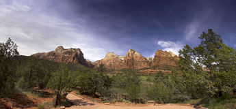 Parc national Utah Etats-Unis de Zion Images libres de droits