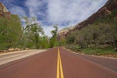 Parc national Utah Etats-Unis de Zion Photo stock