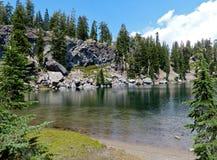 Parc national volcanique de lac terrace, Lassen Image stock