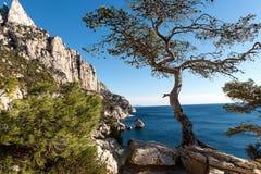 Parc nationales DES Calanques, Marseille, Frankreich Stockbild