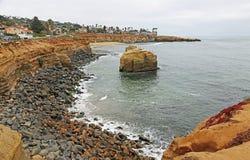 Parc naturel de falaises de coucher du soleil Photo libre de droits