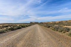 Parc naturel de reales de Bardenas en Navarra, Espagne photos stock