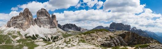 Parc naturel national Tre Cime In les Alpes de dolomites Beau n Photo stock