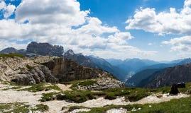 Parc naturel national Tre Cime In les Alpes de dolomites Beau n Photographie stock