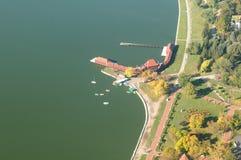 Parc naturel Palic - vue aérienne photographie stock libre de droits