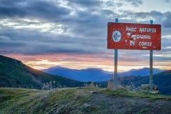 Parc Naturlig De Corse, Balagne, Korsika Arkivfoto