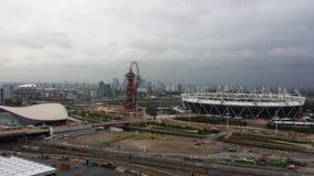 Parc olympique Stratford, Londres Vue de ma grue à tour Images stock