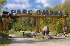 Parc Omega Canada. Parc Omega in Ontario Canada royalty free stock image