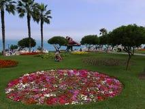Parc ornemental d'amour dans le secteur de Miraflores de Lima Photographie stock