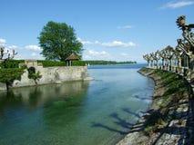Parc par le lac Bodensee dans la ville de Constance image libre de droits