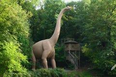 Parc préhistorique de zoo Photographie stock libre de droits
