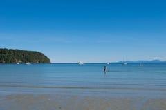 Parc provincial de baie de Tribune sur l'île de Hornby Photo stock