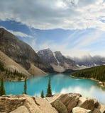 Parc provincial de Banff de lac moraine image libre de droits