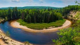 Parc provincial de pointe de flèche, Muskoka, Ontario photographie stock