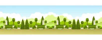 Parc public panoramique illustration stock