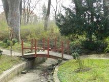 Parc romantique,  de HradÄ, Prague, République Tchèque Images stock