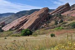 Parc rouge de roches Image stock