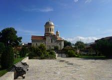 Parc saint d'église orthodoxe d'archanges de Gori image stock
