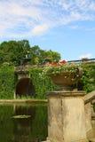 parc sanssouci的波茨坦柏林美丽的池塘 免版税库存图片