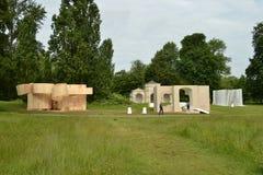 Parc serpentin de jardins de Kensington d'exhibiton d'art Photographie stock