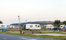Parc statique de vacances de caravane Photographie stock libre de droits