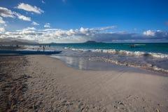 Parc stupéfiant Oahu Hawaï de plage de Kailua photos stock