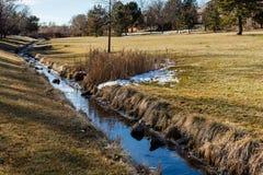 Parc suburbain Photo libre de droits