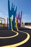 Parc urbain coloré de Copenhague de terrain de jeu Photo libre de droits