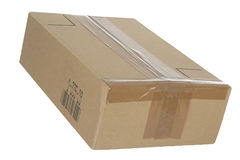 Parcel. Cardboard package parcel box post Royalty Free Stock Photo