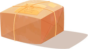 Parcel box. Illustration of parcel box on white royalty free illustration