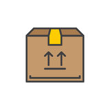 Parcel  box filled outline icon, vector sign. Colorful illustration Royalty Free Stock Photography