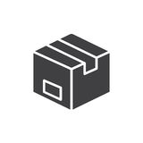 Parcel box icon vector, filled flat sign, solid pictogram isolated on white. Symbol, logo illustration. Pixel perfect Stock Photo