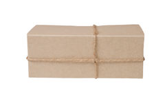 Parcel box isolated on white Royalty Free Stock Image