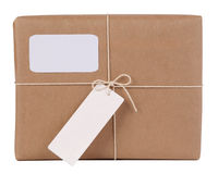 Parcel with copy space Stock Image