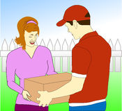 Parcel Delivery Service Royalty Free Stock Photography