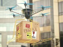 Future Technology Delivery Drone Royalty Free Stock Images