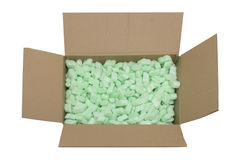 Parcel full of packing fillers Royalty Free Stock Photo