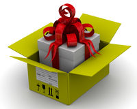 The parcel with gift Stock Photography