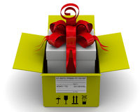 The parcel with gift Royalty Free Stock Photo