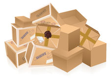 Parcel heap. Illustration, AI file included stock illustration