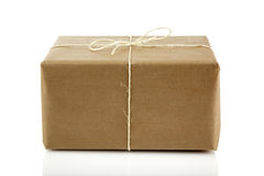 Parcel isolated on white Royalty Free Stock Images